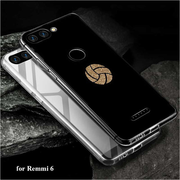 Transparent Soft Silicone Phone Case Keep Calm Love Volleyball For Xiaomi A2 8 F1 Redmi S2 Note 4X 5 6 5A 6A Pro Plus Lite