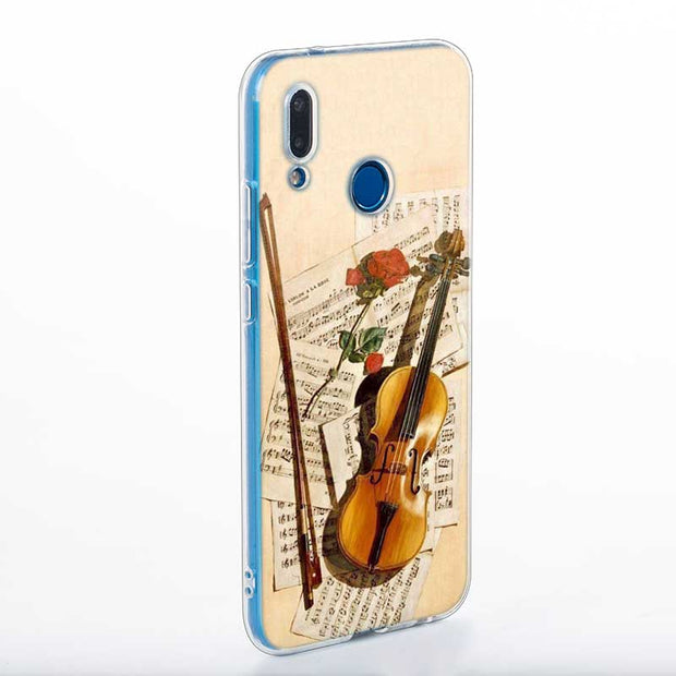 Transparent Soft Silicone Phone Case Love Old Music Score Musical Notes For Huawei P Smart Nova 3i P20 P10 P9 P8 Lite 2017 Pro P