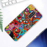 Transparent Soft Silicone Phone Case Psychedelic Trippy Abstract Art For Samsung Galaxy A9 A8 Star A7 A6 A5 A3 Plus 2018 2017