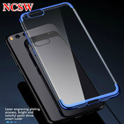 Transparent Soft TPU Case For Xiaomi Mix2S Note 3 Mi5x A1 Mi6 Case For Redmi 5Plus Note4 4X Note5A Protection Laser Plating Case