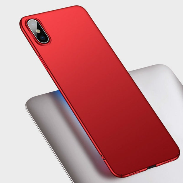 Two Styles For IPhone XS MAX XR Plain Phone Case Slim Frosted Hard PC Back Cover For IPhone X 8 7 6 6S Plus 5 5S SE Coque Capa