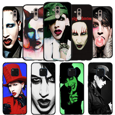 UK Marilyn Manson Phone Case For Huawei Mate 10 20 Lite Mate 10 20 Pro P20 Lite Black Soft Silicone Coque Case
