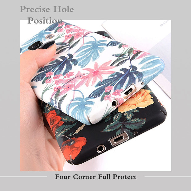 USLION Case For Samsung Galaxy A8 A6 A7 A5 A3 J7 J5 J3 J2 Prime Flower Phone Cover Cases For Samsung Note 9 8 S9 S8 Plus S7 Edge