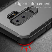 USLION Shockproof TPU+PC Full Protection Cover Phone Cases For Samsung Galaxy S9 S9 S8 Plus Note 8 Business Transparent Case