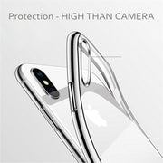 USLION Soft Case For IPhone XS MAX XR 6 6s 7 8 Plus X Phone Case TPU Cover Transparent Clear Capa Coque Shell For Iphone 5 5s SE