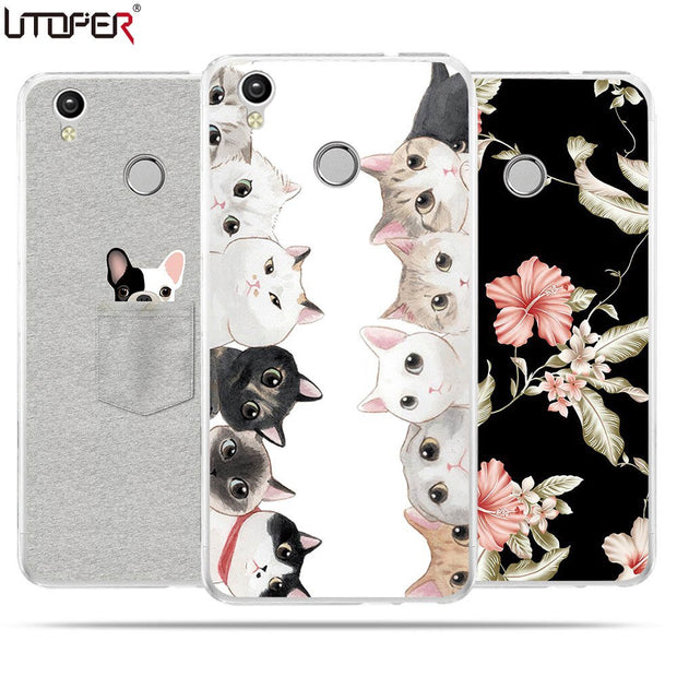"UTOPER Fashion Shell For Oukitel U7 Plus Case 5.5"" Case Silicone Soft TPU Case For Oukitel U7Plus Case Shockproof Back Fundas"