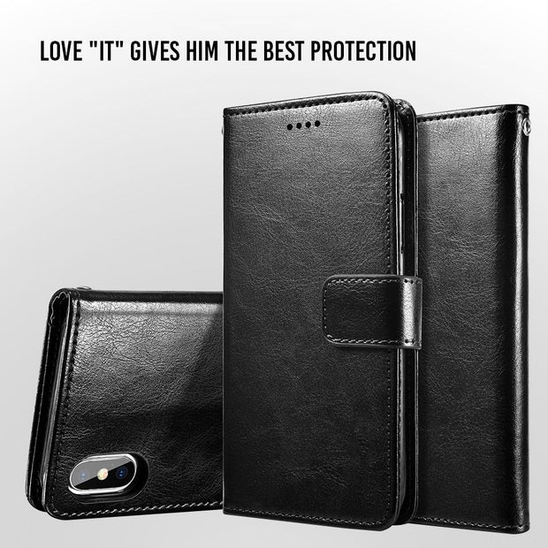 UTOPER For Samsung Galaxy S10 Plus Case PU Leather Flip Luxury For Samsung Note 9 Wallet Case For Samsung S8 S9 S10 Lite Cover