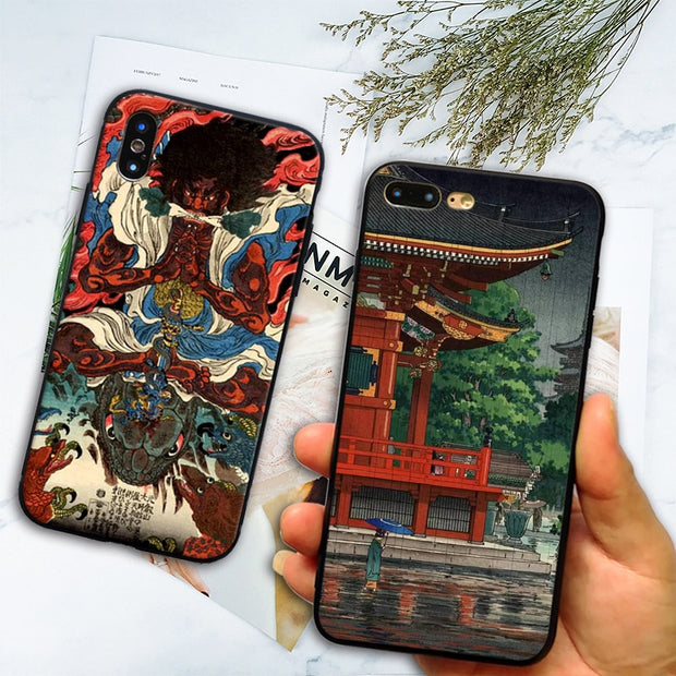 Ukiyo-e Japanese Style Art Coque TPU Soft Silicone Phone Case Shell For Apple IPhone 5 5s Se 6 6s 7 8 Plus X XR XS MAX Cover