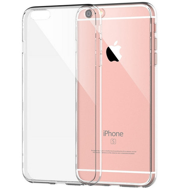 Ultra Slim Crystal Clear TPU Case For IPhone 4 4s 5 5s 6 6s X 7 8 Plus Silicone Protective Sleeve Cover For IPhone 6s Plus 6plus