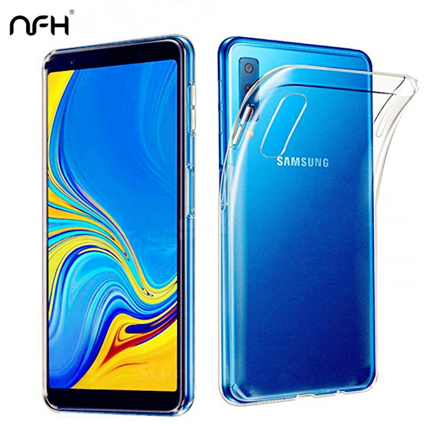 Ultra Thin Soft Silicone Case For Samsung Galaxy A7 2018 Slim Transparent Back Cover For Samsung A7 2018 A750 SM-A750F 6.0 Phone