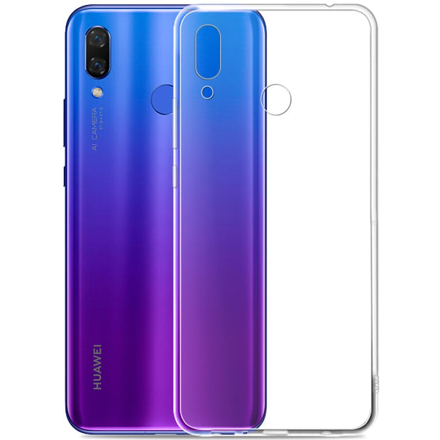 "Ultra Thin Transparent Clear Silicone Soft TPU Case For Huawei Nova 3i / Huawei P Smart Plus(P Smart+)Cover Shell (6.3"")"