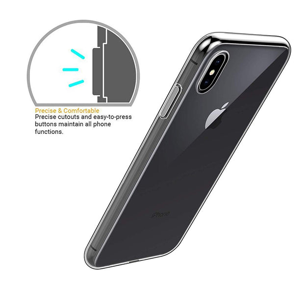 Ultra Thin Transparent Soft TPU Case For IPhone Xs Slim Clear Protective Silicone Back Cover For IPhone XR Xs Max 2018 Coque Bag