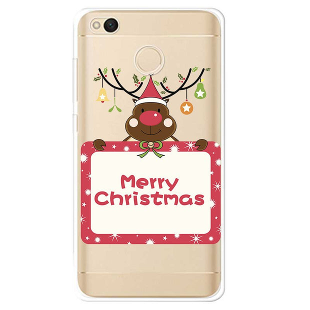Ultra Thin For Xiaomi Redmi 5A Case Santa Reindeer Soft Silicone Cases For Xiaomi Redmi Note 5 4a 4x Mi A1 Note 4 Cover Capa