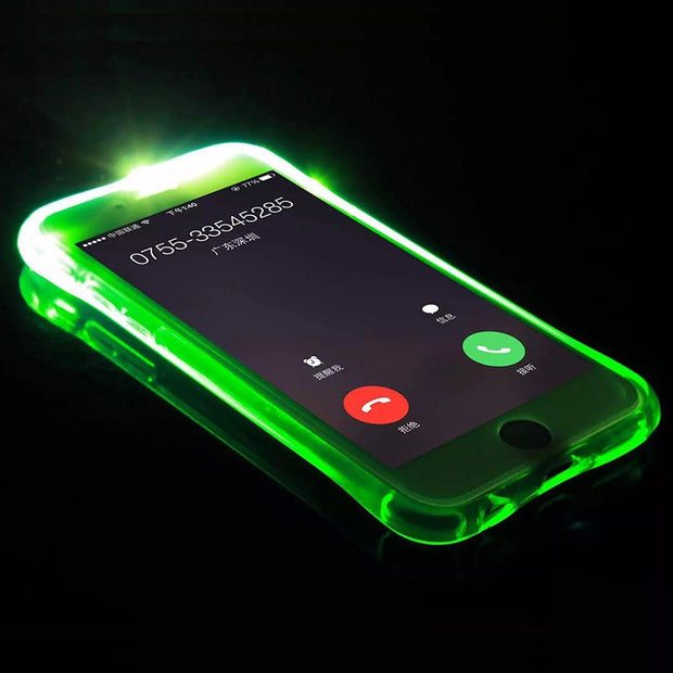 Ultra-thin Led Flash Soft Case For Iphone 7 7 Plus 8 X MAX XR XS 6 6S Plus Smart Call Flash Light Back Cover