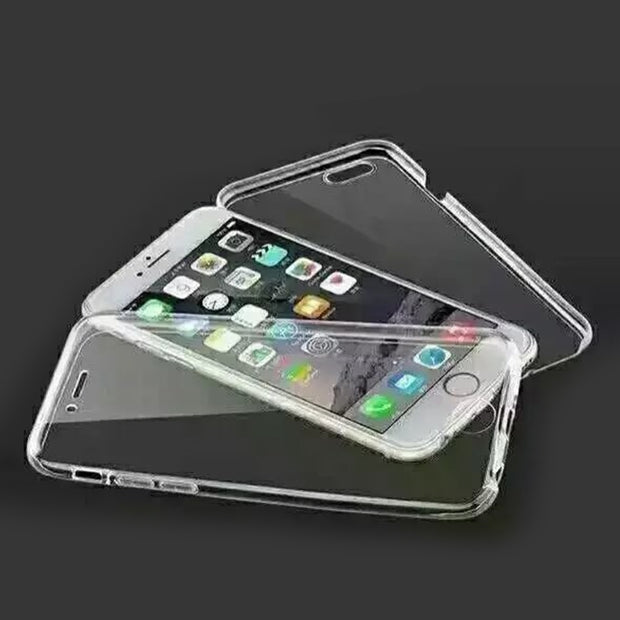 Ultral Thin Transparent 360 Degree TPU Phone Case For Iphone 5 5S 6 6S 7 8 X Full Coverage For Iphone 6 6s Plus 7 8 Plus Case