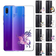 Unicorn Printed Silicone Case For Huawei P30 Lite P20 Pro P Smart 2019 P10 Anti-Scratch Anti-Finger Print Cover Customize Print