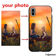 Unique Personalized Customized DIY Printing Black Silicone TPU Phone Case Cover For Apple IPhone X10 6 6s 7 8 8plus 5 5s Case