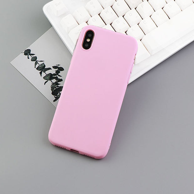 Unique Phone Case For IPhone 7 Plus Covers Silicone Rubber Solid Iphone 6s Case Waterproof Funda Iphone Xs Case X XR XS Max