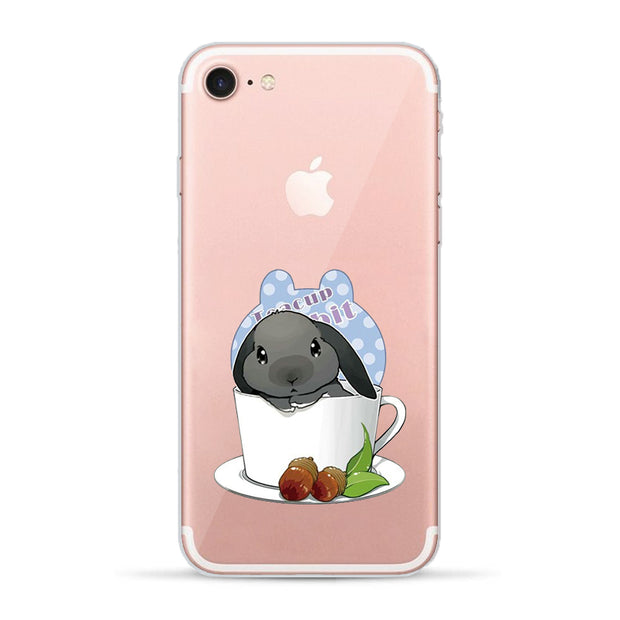 VIYISI Phone Case For Apple IPhone X IPhone 7 Case 8 6 6S Plus Cover 5 5S SE Teacup Rabbit Cover Etui Back Coque Capinha Eagle