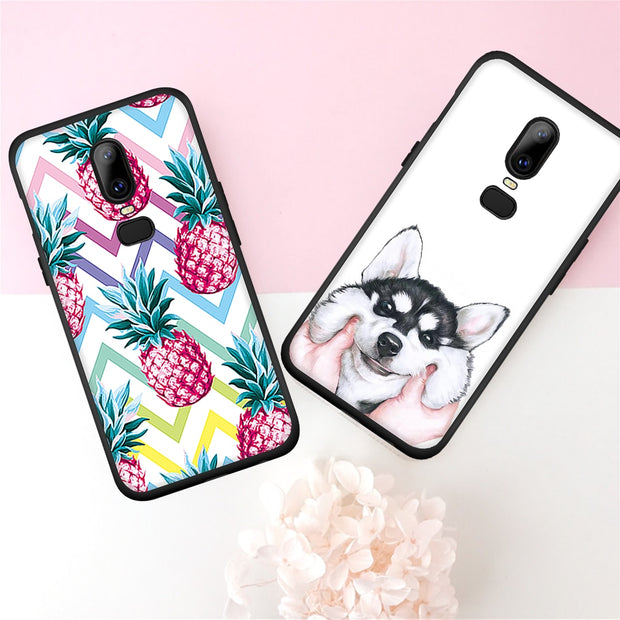 Vevice Pattern Phone Cases For Oneplus 5T 6 5 Cartoon TPU Cover Coque For Oneplus 5T 6 5 Painted Back Cover Fundas Case