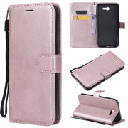 Wallet Case For Samsung Galaxy J720 J7 2017 US Version Flip Back Cover Pure Color PU Leather Mobile Phone Bags Coque Fundas