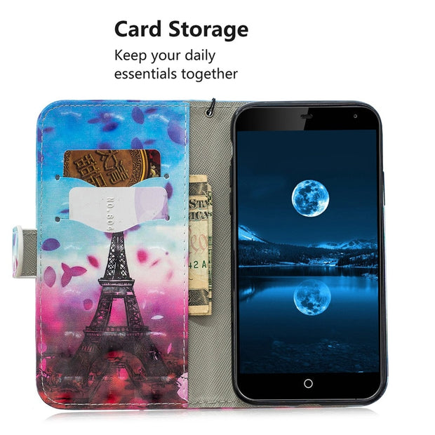 Wallet Flip Leather Case For Samsung Galaxy A3 A5 2017 S8 S9 Plus J2prime J2 Pro J4 J6 2018 J3 J5 J7 2016 2017 A6 Plus Cover