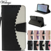 Wekays For Samsung Galaxy Note 9 Splice Color Leather Fundas Case For Samsung Galaxy S7 Edge S8 Plus S9 Plus Cover Case Note9