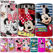 Weldone Case For LG Q6 G6 X Power 2 X Screen G4 G5 Q8 K7 K8 K10 Mickey Minnie Mouse Cases Etui Cover For K8 K10 2017 Coque