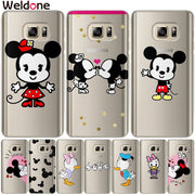 Weldone Case For Samsung S9 Plus S7 S6 Edge S8 Plus G530 J3 J5 J7 2016 2017 Mickey Minnie Cover Cases For S9 J5 J2 Prime Covers