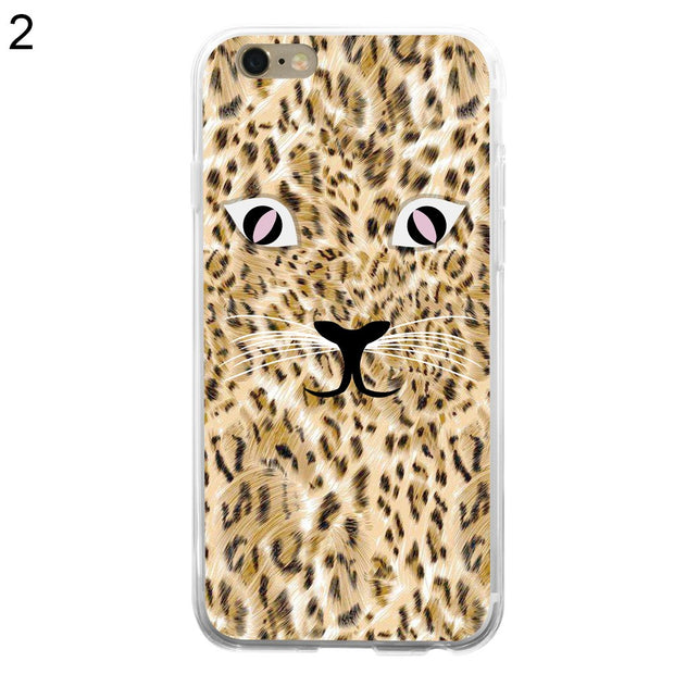 Wild Leopard Phone Shell Case Cover For IPhone 5 5C 6 7 Plus
