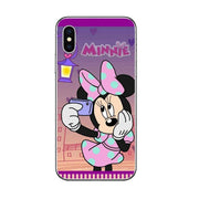 Winnie Pooh Fairy Tale Stained Alice Mickey Mouse Case For IPhone XR XS Max X 8 7 6 6S Plus 5 5S SE 10 Cover Tinker Bell
