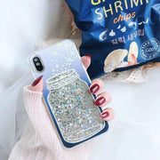Wishing Bottle Phone Case For IPhone X 6 7 8 Plus Luxury Glitter Stars Dynamic Liquid Quicksand Case For IPhone 6 6S Cases Caqa