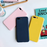 XBXCase Candy Color TPU Matte Phone Case For IPhone X XS Max XR S Silicone Soft Protective Case For IPhone 6S 6 7 8 Plus Cover
