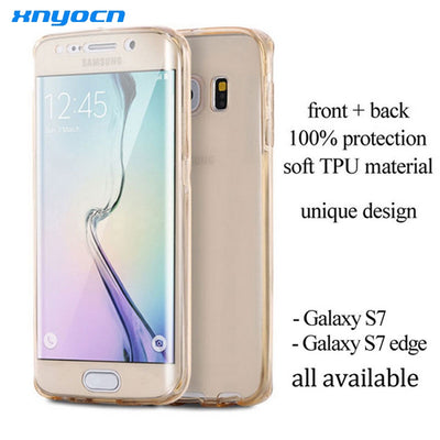 XNYOCN Case For Samsung Galaxy A3 A5 A7 2017 J5 J7 2016 Prime S6 S7 S8 Edge Plus Cases Soft TPU Full Body Protective Clear Cover