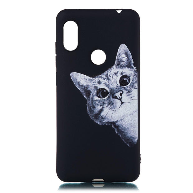 Xiaomi Redmi Note 6 Pro Case Silicone Black Matte Soft TPU Cute Cat Star Back Cover For Xiaomi Redmi 6 6A Case Redmi 6 Pro Cover