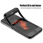 Xinmanrou Luxury 360 Degree Soft Tpu Silicon Case For IPhone 6 Cases 6s Plus Silicone Full Caqa Cover For IPhone 7 Plus Case