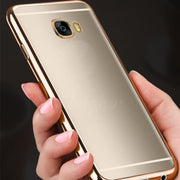 Xinmanrou Plating Phone Cases For Samsung Galaxy J1 J3 J5 2016 Case Silicon For Samsung Galaxy S6 S7 Edge S8 Plus Case Gold TPU