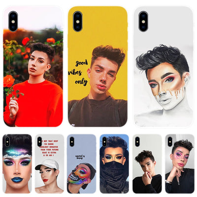 YAETEE James Charles Funda Silicone Phone Back Case For Apple IPhone 7 8 6 6S Plus X 10 XS MAX XR 5 5S 5C SE Cover Coque