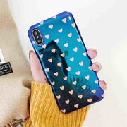 YHCSZ Blue Light Hearts Soft IMD Phone Case Cover For IPhone 6 6S 7 8 Plus X