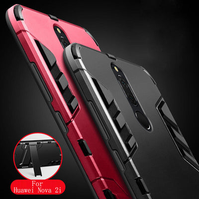 YISHANGOU Armor Kickstand Phone Case For Huawei P8 P9 P10 Lite Mate10 Pro Maimang6 Enjoy7 Honor 9/V9/6A NOVA 2 Y3 Y6 2017 Cover