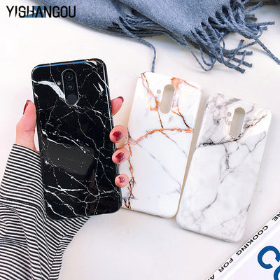 YISHANGOU Marble Soft Silicon Phone Case For Huawei Mate 20 Lite P20 Pro NOVA 3i 3E P Smart Plus Smooth IMD Marbles Back Cover