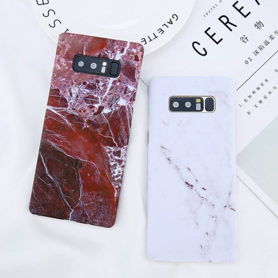 YISHANGOU Phone Case For Samsung Galaxy Note8 S7 Edge S8 Plus Fashion Smooth Marble Stone Hard PC Plastic Back Cover Capa Coque