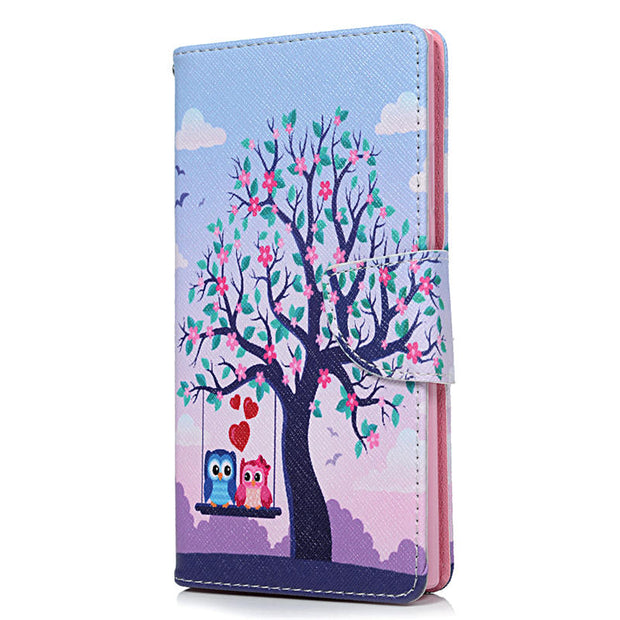 YOKIRIN PU Leather Phone Case Painted Stand Flip Wallet Cover Cases For Sony Xperia L2/XA2/XA1 Plus/XZ1/XZ1 Compact/XZ Premium