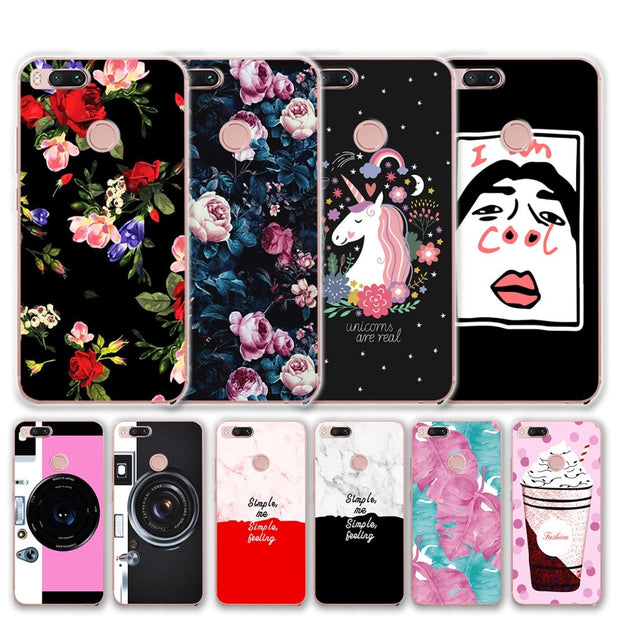 YOUVEI Chic Lovers Phone Case For Xiaomi Mi A1 Mi 5X 6X A2 New Painted Silicone Cover Fundas For Xiaomi 8 Redmi 5a 6a Redmi S2