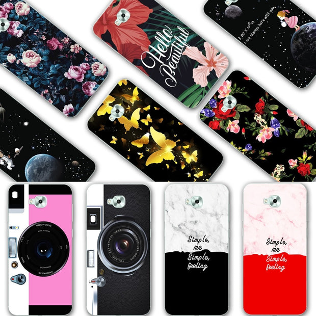 YOUVEI Chic Painted Lovers Phone Cases For Asus Zenfone 4 Selfie ZD553KL Silicone Back Cover For Asus Zenfone 4 Selfie ZD553KL