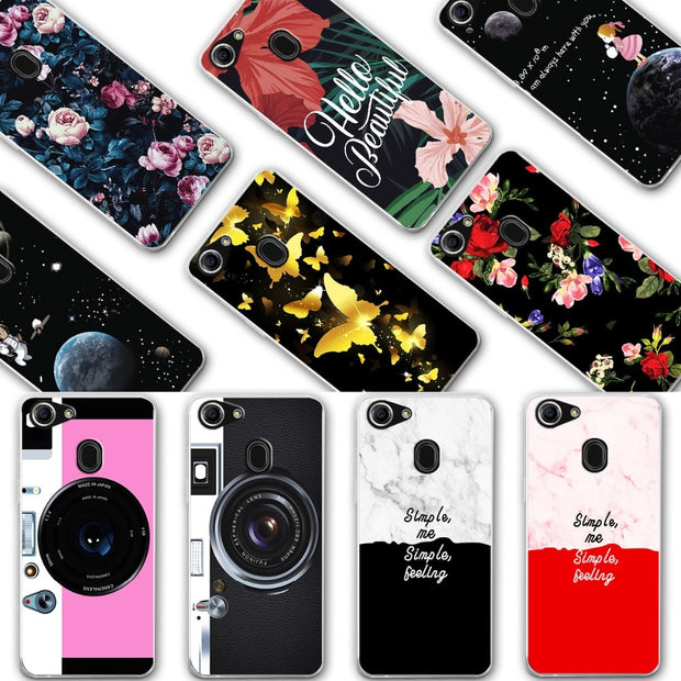 YOUVEI Chic Painted Lovers Phone Cases For OPPO F7 Silicone Back Covers Case For Oppo F7 F 7 Oppof7 Cover Fundas OPPO F7 Bags