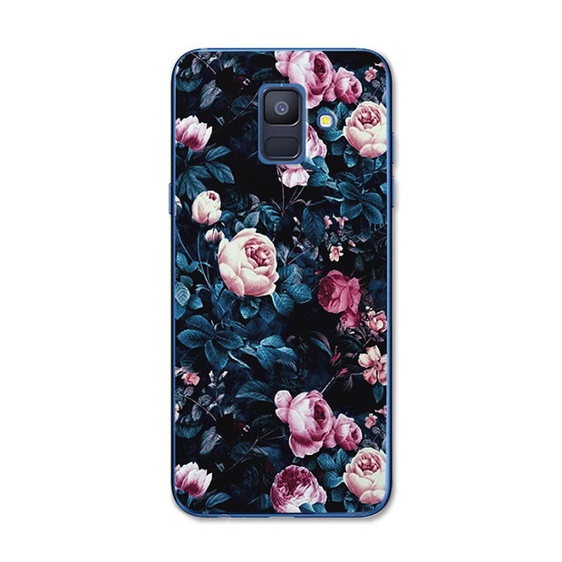 YOUVEI For Samsung Galaxy A5 2018 New Painted Back Cover For Samsung A8 2018 Case A6 2018 Plus Chic Lovers Style Phone Cases