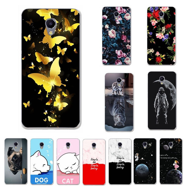 YOUVEI Lovers Phone Case For Meizu M5C Case Cover Coque Print Silicon For Meizu M5C Capa Chic 5.0'' Fundas For Meizu M5C