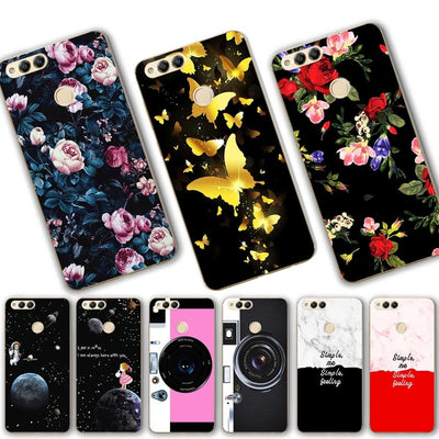 "YOUVEI Lovers Style Phone Case For Huawei Honor 7X New Print Silicone Honor 7 X Back Cover Case For Huawei Honor 7X 5.93"" Fundas"