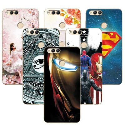 YOUVEI TPU Phone Cover Case For Huawei Honor 7X 7 X Attractive Super Iron Man Cases Funda For Huawei Honor 7x BND-TL10 AL10 5.93